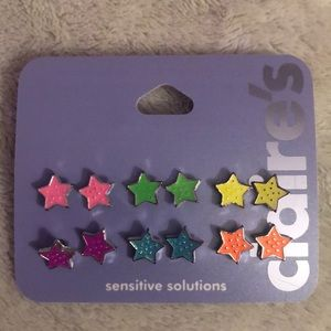 🌸 Stud star Earrings by Claire's